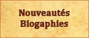 Nouveautés Biographies